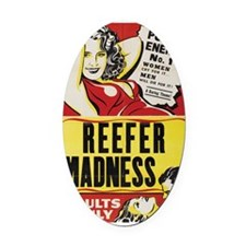 ReeferMadness_01lrg Oval Car Magnet