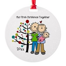 Custom Dad, Mom, Baby Girl Ornament