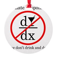 Dont Drink and Derive - Wine Ornament