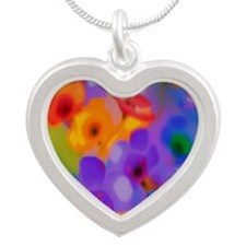 Art Whitaker Flowers 10 10 3 Silver Heart Necklace