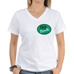 NEW 99Rock Women's V-Neck T-Shirt