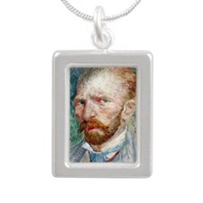 443 VG Self 3 Silver Portrait Necklace