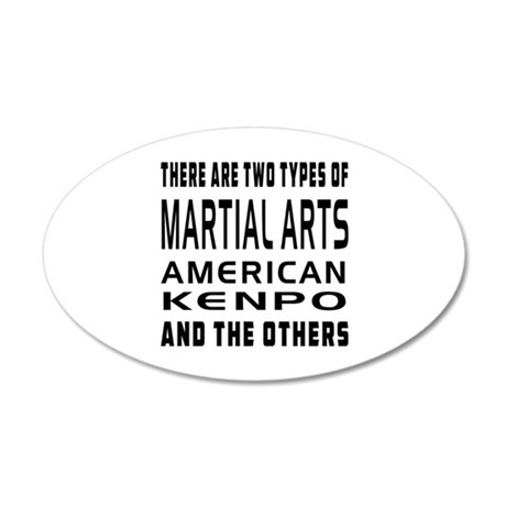 American Kenpo Designs 20x12 Oval Wall Decal