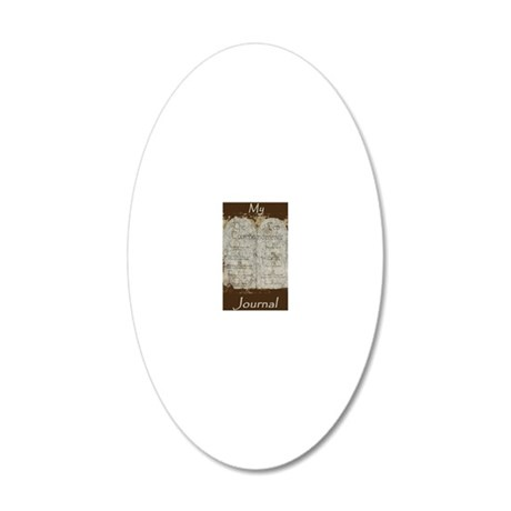 10 Commandments Journal 20x12 Oval Wall Decal