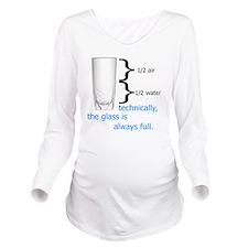 Glass 1-2 full Long Sleeve Maternity T-Shirt