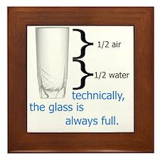 Glass 1-2 full Framed Tile