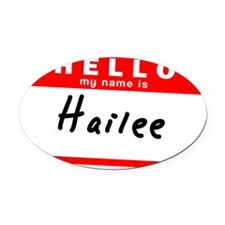 Hailee Oval Car Magnet