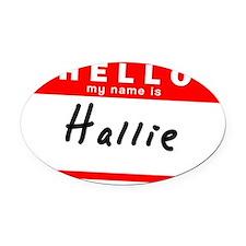 Hallie Oval Car Magnet