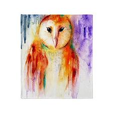 Solo Owl Throw Blanket