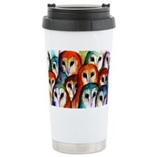Owl Audience Ceramic Travel Mug