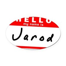 Jarod Oval Car Magnet