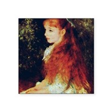 "Irene by Renoir Square Sticker 3"" x 3"""