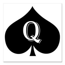 "qos Square Car Magnet 3"" x 3"""