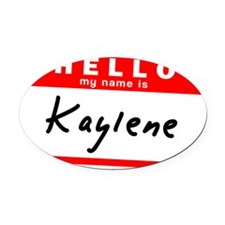 Kaylene Oval Car Magnet