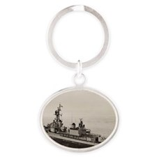 hollister framed panel print Oval Keychain