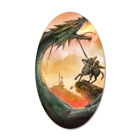 saint george007forjournal 35x21 Oval Wall Decal