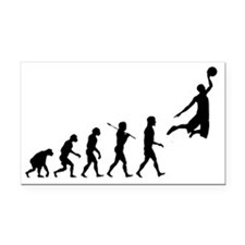 basketball_evolution Rectangle Car Magnet