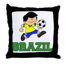 Brazil Soccer Football Throw Pillow