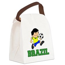 Brazil Soccer Football Canvas Lunch Bag