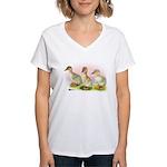 Buff Ducklings Women's V-Neck T-Shirt