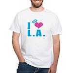 I Love (Heart) L.A. White T-Shirt