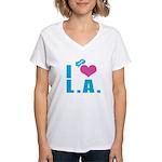 I Love (Heart) L.A. Women's V-Neck T-Shirt
