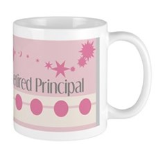 Retired Principal blanket  pink grey Mug