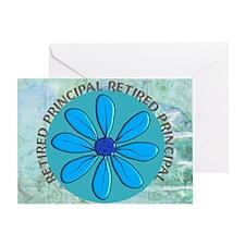 RETIRED PRINCIPAL BLANKET Greeting Card