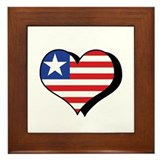 I Love Liberia Framed Tile