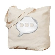 WhiteWordBubbleTshirt Tote Bag