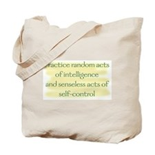 random acts of intelligence Tote Bag