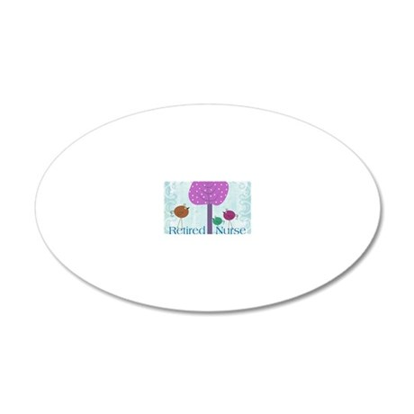 RN blanket 6 20x12 Oval Wall Decal