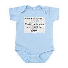 clean or dirty horse shirt Onesie