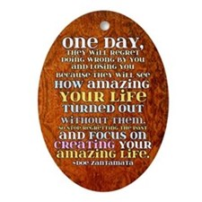 one day magnet2 Oval Ornament