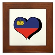 I Love Liechtenstein Framed Tile