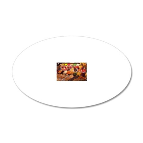 Candy at Las Ramblas, Barcel 20x12 Oval Wall Decal
