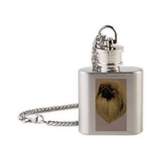 Peke Jewel Flask Necklace