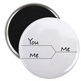 """You vs. Me"" March Madness-style Magnet (10 pack)"