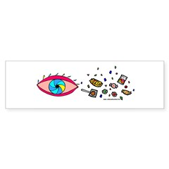 Eye Candy II Bumper Sticker