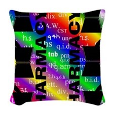 FF PHARMACY 5 Woven Throw Pillow