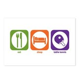 Eat Sleep Table Tennis Postcards (Package of 8)