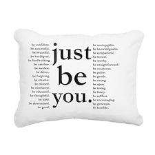just be you Rectangular Canvas Pillow