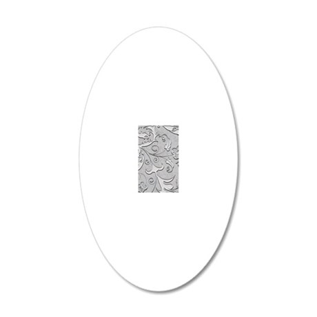 iPhone4Slidersilverscroll 20x12 Oval Wall Decal