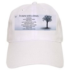 it starts with a dream mug Baseball Cap