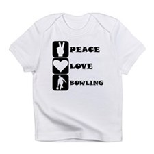 Peace Love Bowling Infant T-Shirt