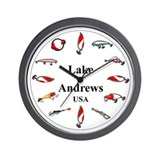 Lake Andrews Wall Clock