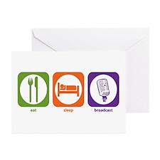 Eat Sleep Broadcast Greeting Cards (Pk of 10)