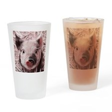 sweet piglet, pink Drinking Glass