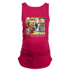 ALICE_OFF WITH HEAD_PINK Maternity Tank Top