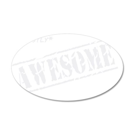 mostly awesome light 35x21 Oval Wall Decal